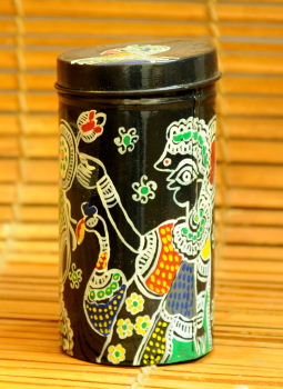 Cookie Boxes,Indiacraft,Madhubani Painted Tin Cookie Boxes Small DHS117SA