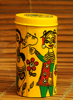 Cookie Boxes,Indiacraft,Madhubani Painted Tin Cookie Boxes Small  DHS117SD