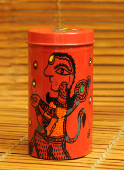 Cookie Boxes,Indiacraft,Madhubani Painted Tin Cookie Boxes Small DHS117SH
