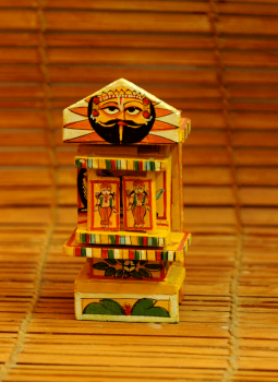 """Kavad Art,Indiacraft,Small Kaavad- Painted wood portable shrine (H-6"""" x W-3"""") ..."""