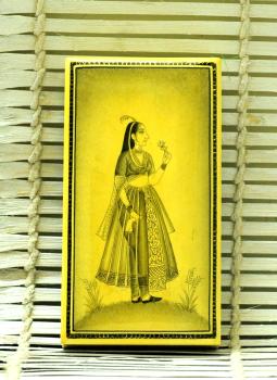 Papier Mache design on wood,Indiacraft,Fine Miniature Art on Kashmiri Box