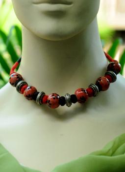 Jewellery,Indiacraft,Jaipur Beads & Metal Neckpiece