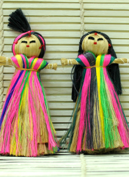Cloth mobile,Indiacraft,Jute Dolls - Set of 2