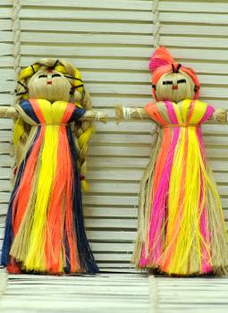 Cloth mobile,Indiacraft,Jute Dolls - Set of 2
