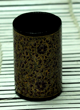 Papier Mache design on wood,Indiacraft,Kashmiri Art -  Papier  Mache  Pen Holder