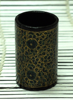 Papier Mache design on wood,Indiacraft,Kashmiri Art -  Papier  Mache  Pen Holder