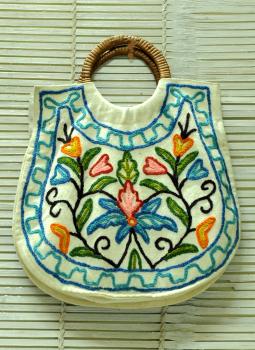 Kutch Embroidered Handbags,Indiacraft,Kashmiri Crewel Work Bag