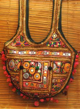 Kutch Embroidered Handbags,Indiacraft,Kutch embroidered banjara Big  Bag - multicolored     KEB...