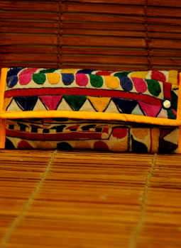 Kutch Embroidered Handbags,Indiacraft,Kutch embroidered Clutch Bag - multicolored   KECBMG