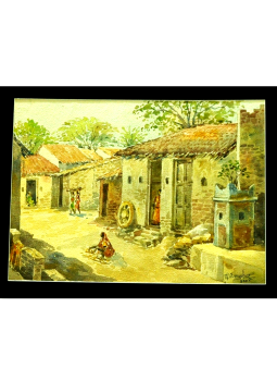 Kolhapur Paintings,Indiacraft,Original water colour paintings from Kolhapur,Maharashtra