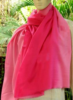 Warm Stoles & Mufflers,Indiacraft,Fine,Soft kashmiri Shaded Wool Stole -Pinks