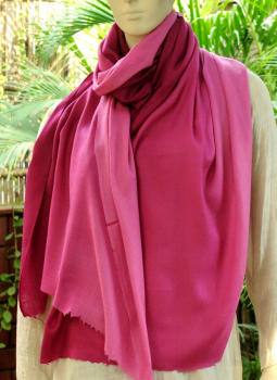 Warm Stoles & Mufflers,Indiacraft,Fine,Soft kashmiri Shaded Wool Stole -Light to Dark Rose ...