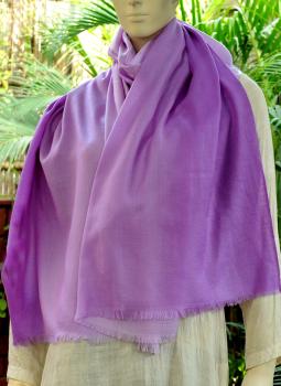 Warm Stoles & Mufflers,Indiacraft,Fine,Soft Kashmiri Shaded Wool Stole -Mauves