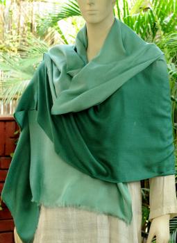 Warm Stoles & Mufflers,Indiacraft,Fine,Soft Kashmiri Shaded Wool Stole -Sea Greens