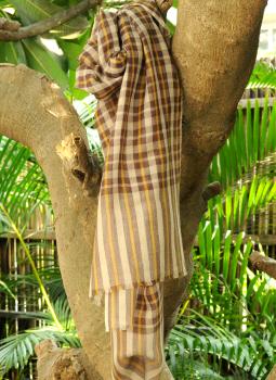 Warm Stoles & Mufflers,Indiacraft,Fine, Soft kashmiri Wool Muffler - Brown & Beige Checks