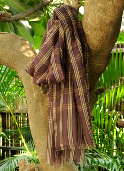 Warm Stoles & Mufflers,Indiacraft,Fine, Soft kashmiri Wool Muffler - Brown Checks
