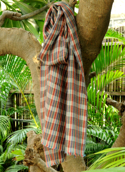 Warm Stoles & Mufflers,Indiacraft,Fine, Soft kashmiri Wool Muffler - Brown Striped