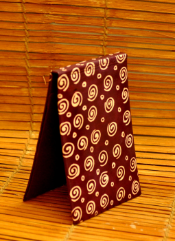Embossed Leather Wallets,Indiacraft,Leather Embossed Paper Holder-Maroon Concentrics LEPH85MC