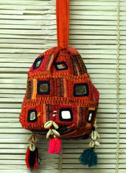 Rajasthan Block Printed and Applique,Indiacraft,Lambani Tribal Mirrorwork Sling Bag - Multicoloured