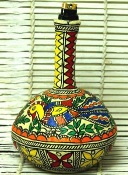 Lamp Shades,Indiacraft,Madhubani Art Table Lamp
