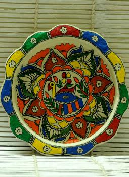 Trays,Indiacraft,Madhubani Art -Utility Tray  Papier Mache Multicoloured