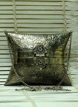 Kutch Embroidered Handbags,Indiacraft,Metal Large Sling Bag
