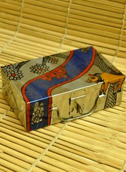 Trunks,Indiacraft,Madhubani Painted Trunk Small (H-2.5x W- 5x L- 8) MPT3710SC