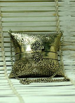 Kutch Embroidered Handbags,Indiacraft,Metal Small Sling Bag