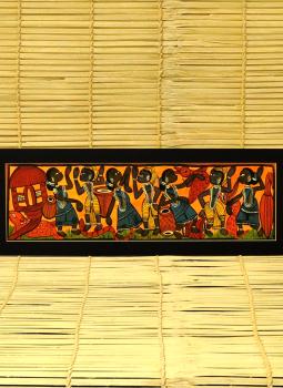 Madhubani,Indiacraft,Potua Art Painting With Mount