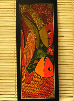 Madhubani,Indiacraft,Potua Art Painting With Mount