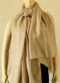 Warm Stoles & Mufflers,Indiacraft,Pure pashmina  Stole - Beige PPKSA