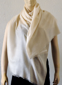 Warm Stoles & Mufflers,Indiacraft,Pure pashmina Stole - Classic beige PPKSB