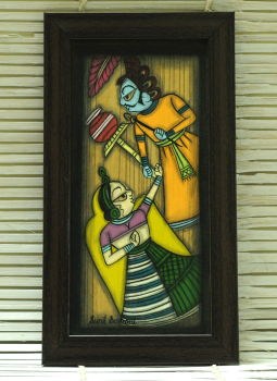 Phad Paintings,Indiacraft,Contemporary Art - Phad Painting Large On Wood Framed Mul...