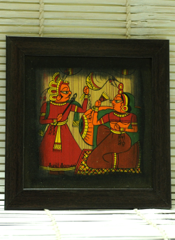 Phad Paintings,Indiacraft,Contemporary Art - Phad Painting Medium On Wood Framed Mu...