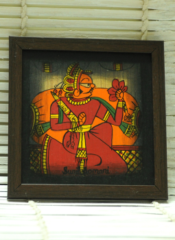 Phad Paintings,Indiacraft,Contemporary Art - Phad Painting Small On Wood Framed Mul...