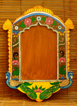 "Painted wood,Indiacraft,Rajasthani Art painted frame  RAPF2015A   (H-20.5"" x L- 1..."