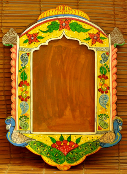 "Painted wood,Indiacraft,Rajasthani Art painted frame      RAPF2015C    (H-20.5"" x..."