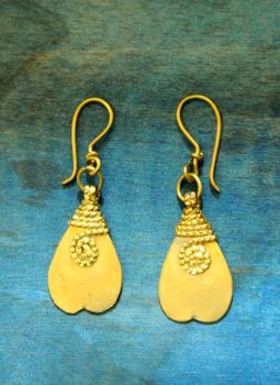 Jewellery,Indiacraft,Rustic Dhokra Brass Metal Earing