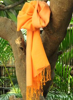 Warm Stoles & Mufflers,Indiacraft,Soft Silk & Wool Reversible kashmiri Muffler - Pale & Dar...