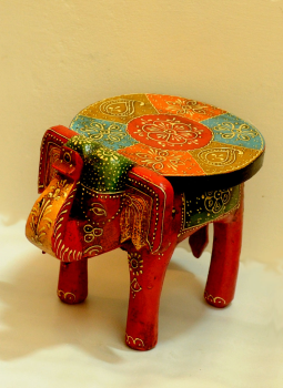 Painted wood,Indiacraft,Rajasthani painted wooden curio - Table  RPWCT
