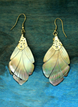 Jewellery,Indiacraft,Shell Craft Earrings