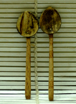 Serving Ware,Indiacraft,Coconut Wood Salad  Spoons