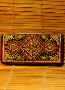 Brocade clutch bag,Indiacraft,Raw Silk Clutch bags with the finest Kutch embroidery- Ma...