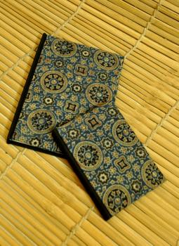 Diaries,Indiacraft,Handmade Cloth Cover Diary (SRC0102BLM)