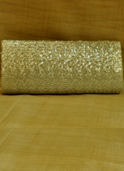 Brocade clutch bag,Indiacraft,Silver Sequinned Satin Clutch Bag