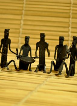 Bastar Tribal Art,Indiacraft,Bastar Tribal Art Musician Set (4