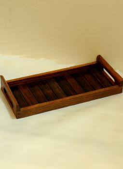 Embellished wood,Indiacraft,Wooden tray - long slim WDTLS