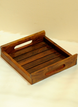 Embellished wood,Indiacraft,Wooden tray - square  WDTS