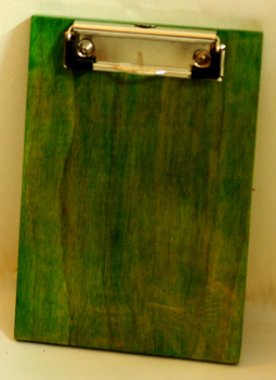 Embellished wood,Indiacraft,Wooden engraved clipboard small - lime green  WECSLG