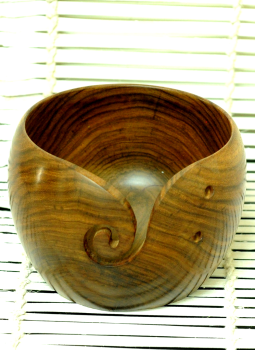 Embellished wood,Indiacraft,Wooden Yarn Bowl- Small
